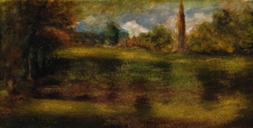 "John Constable ""View of Salisbury Cathedral"" Study, Watercolor, 2012"